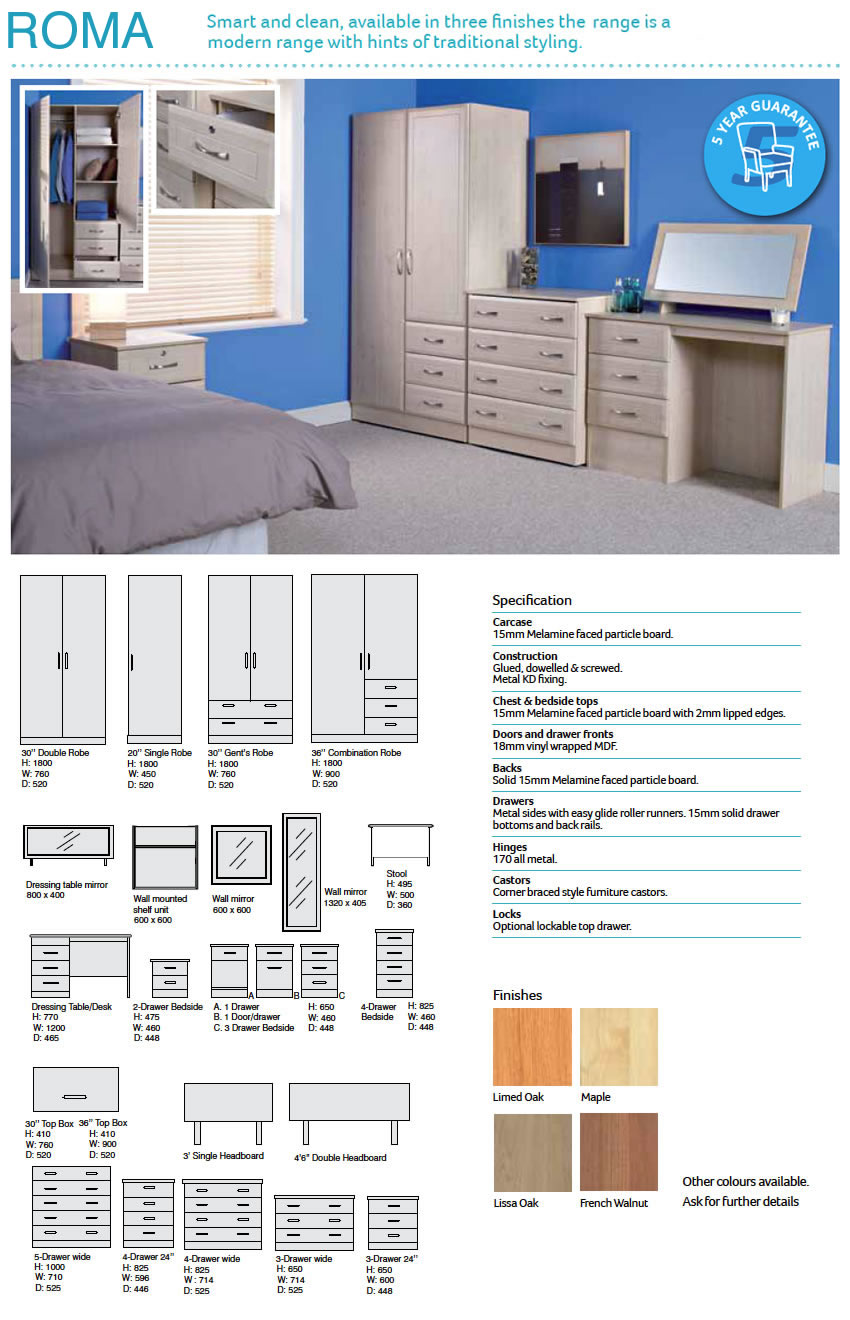Bedroom Package - Cannock