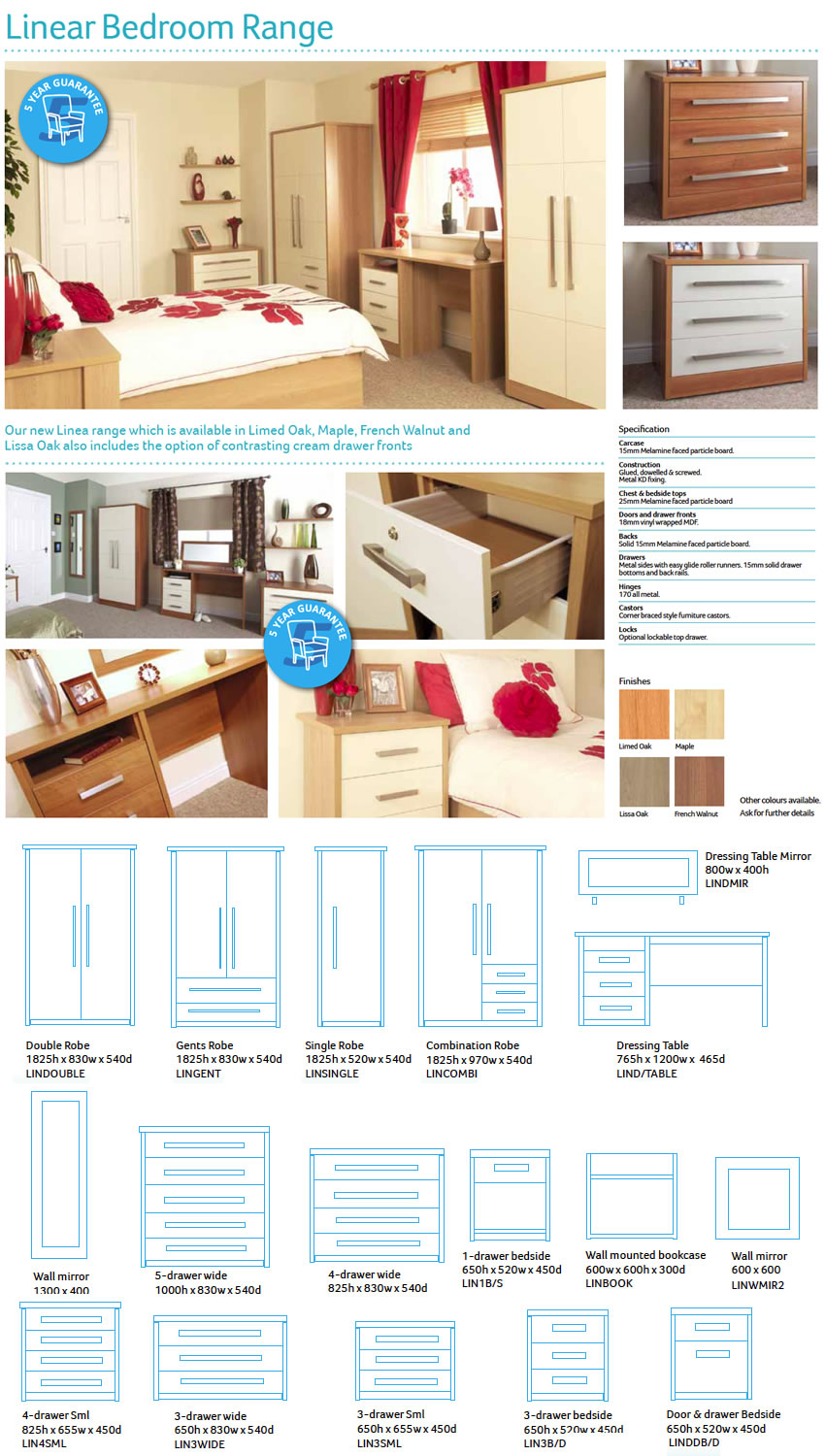 Bedroom Packages - Linea Range